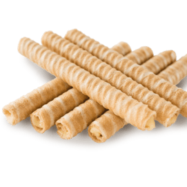 Milk rolled wafers