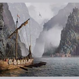 """""""The roaring seas and many a dark range of mountains lie between us."""""""