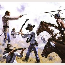 Battle of the Greasy Grass, Montana, 1876 — Sitting Bull, Crazy Horse defeat Gen. Custer