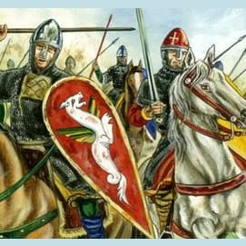 Battle of Alnwick, England, 1093 — Malcolm III of Scotland is killed by English Knights under Robert de Mowbray