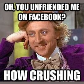 You 'unfriend' them and then secretly stalk their page.