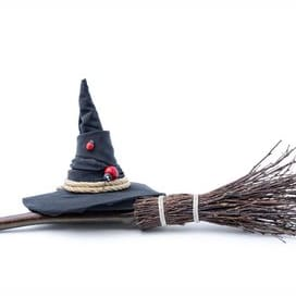 Witches Hat and Broom