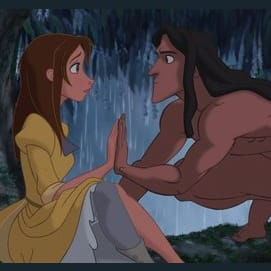 Tarzan and Jane, they come from different worlds but still find a way into each other's hearts