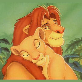 Simba and Nala, they grew up together and their personalities are so similar making them the perfect match