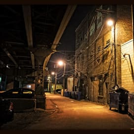 In a back alley