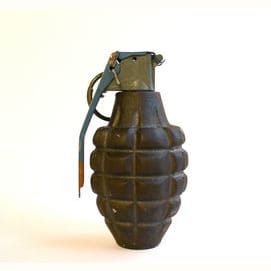 A grenade. There's no finesse in a fight.