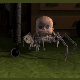 The Doll Head With Spider Legs