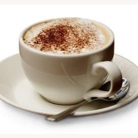 A cappuccino or latte