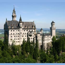 An enchanted castle.
