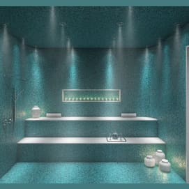 A house with an in-home spa.