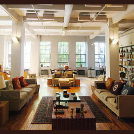 A loft in the city.