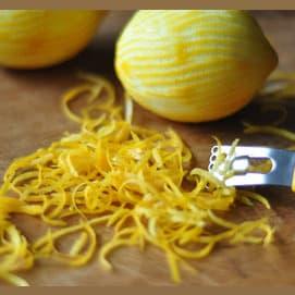 Lemon shavings