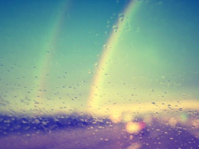 Son los conocidos arcoíris de niebla (Fogbow) que muestra el reflejo de la luz del sol debido a las gotas del agua de la niebla. La falta de colores está en el menor tamaño de las gotas de agua ya que se difuminan los colores al contrario de lo que ocurre en gotas más grandes, que actúan como un prisma reflejando la luz solar.
