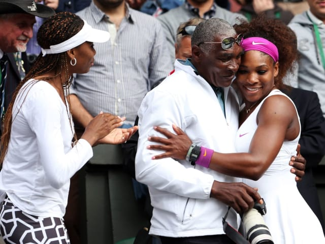 Like his daughters Serena and Venus, Richard Williams is a polarizing figure on the tennis circuit. Inspiring or overbearing? Nurturing or controlling? Whatever you think, Richard has always been there for his daughters, has a great relationship with them, and isn't abusive towards others (unlike many other tennis fathers, eg Dokic, Pierce, Graf and more)