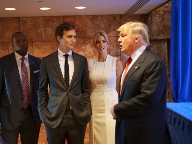 Kushner and his father in law, Donald Trump