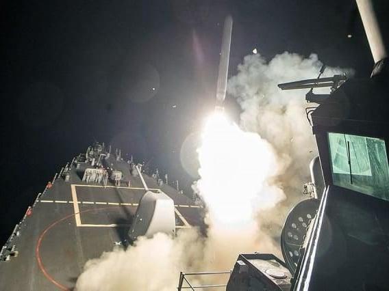 The US launches air strikes against Assad