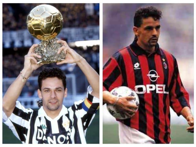 Roberto Baggio: Juventus (1990-95), Milan (1995-97)