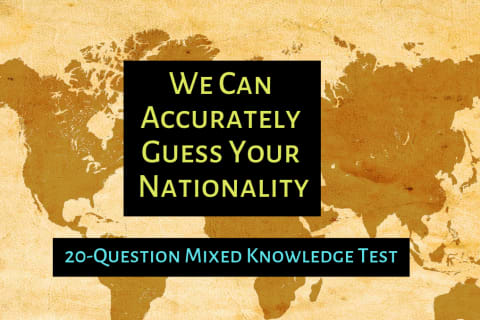 what nationality are you test