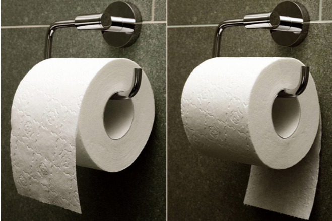 Your Toilet Paper Roll In The Holder