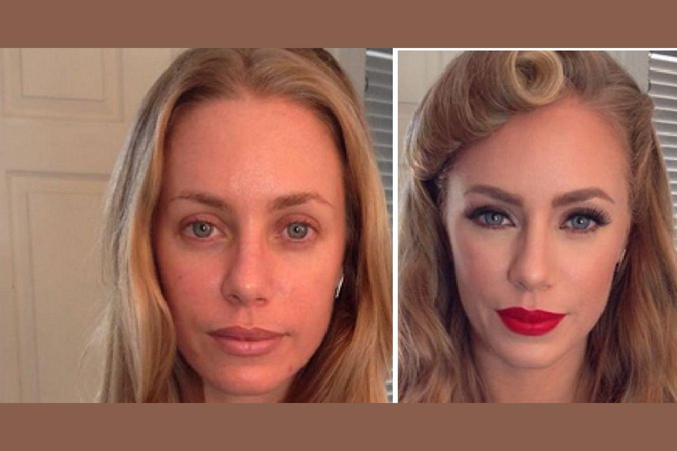 Pornodarstellerinnen zeigen sich ungeschminkt und geschminkt