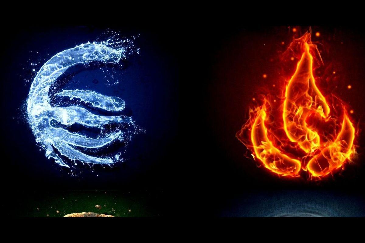 картинки символами огонь и вода определённых