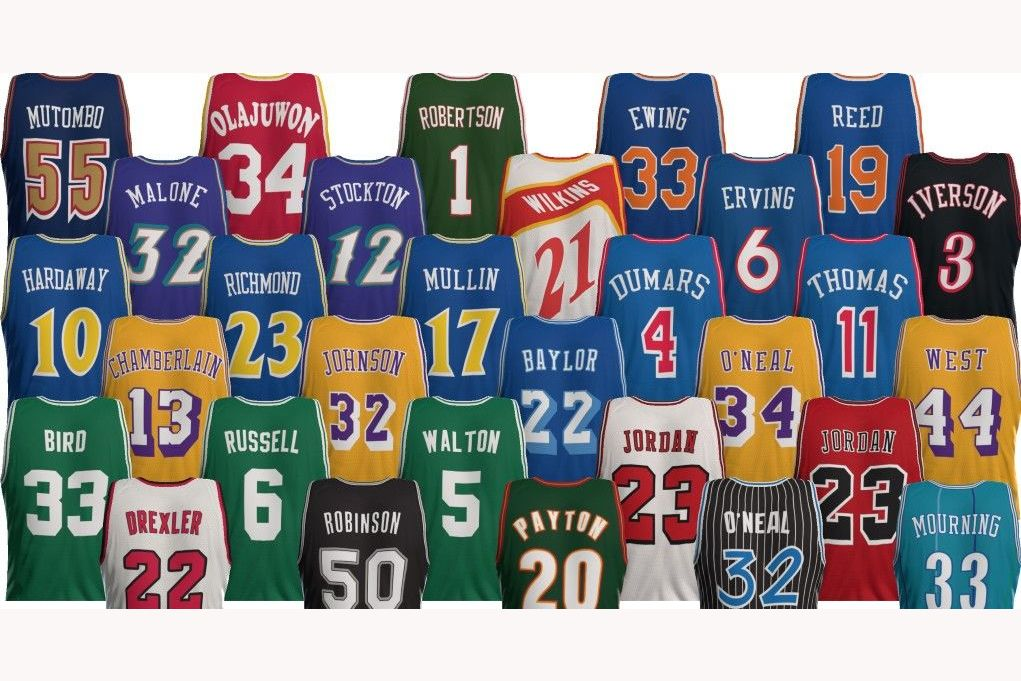 b05524907 Throwback NBA Jerseys