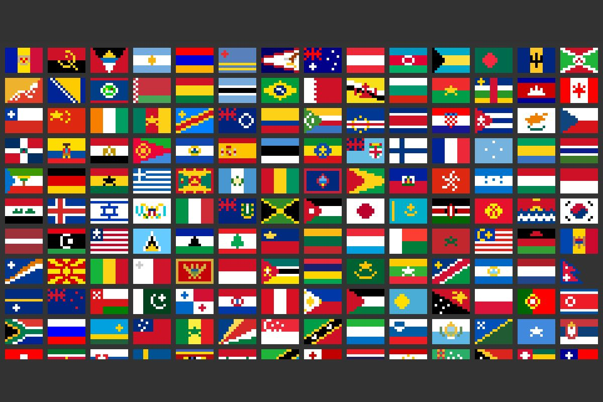 Все флаги стран мира на одной картинке
