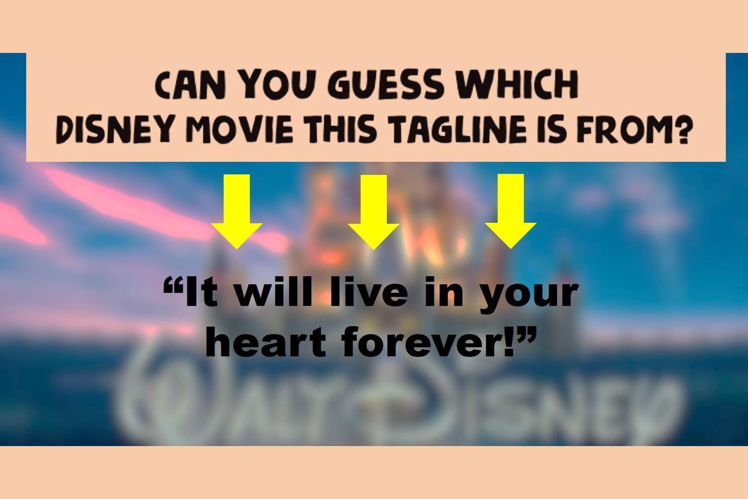 disney movie taglines