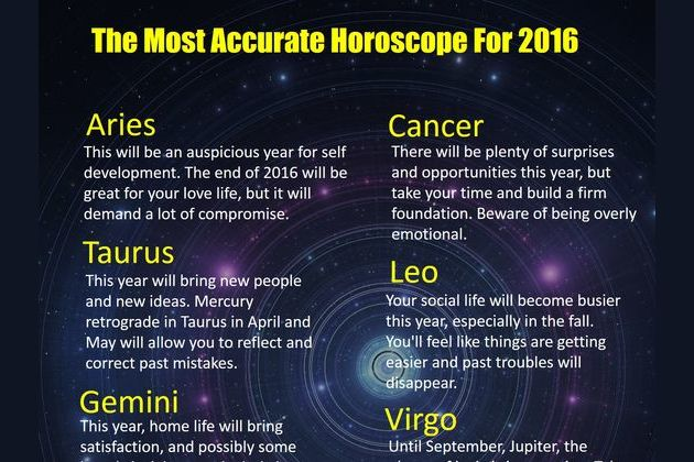 The Most Accurate Horoscope For 2016