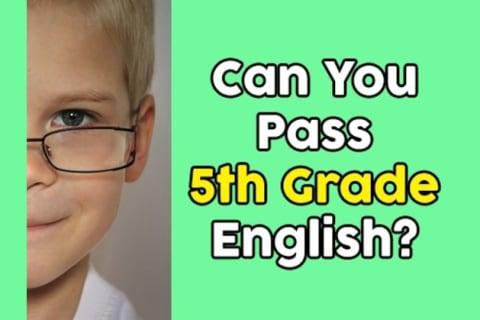 Can You Pass 5th Grade English?
