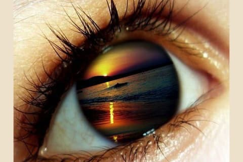 what colour is hidden behind your eyes?