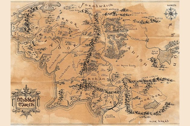 Middle Earth Map Large.What Middle Earth Creature Person Would You Be