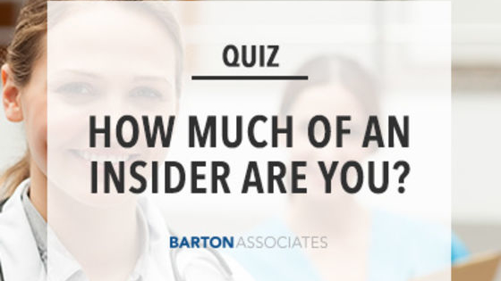 Take our quiz and find out how much of an insider you are in healthcare!