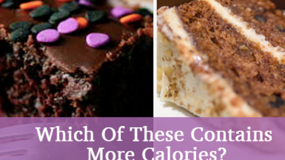 Which of these has more fat, sugar or calories?