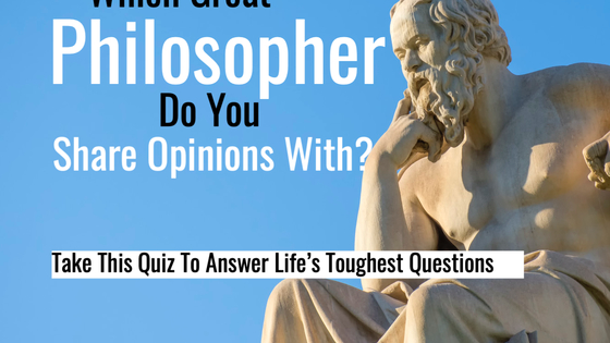 Philosophy has become an unrespected field in modern society. This is unfortunate considering most of today's societal clashes could perhaps be more effectively debated from a philosophical perspective. Your personally held philosophies define who you are. Find out which famous philosopher your beliefs are consistent with by taking this quiz.