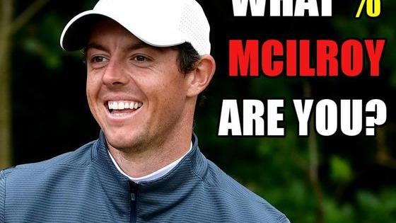 What percent of the major winning, power hitting, weight lifting Northern Irishman are you?