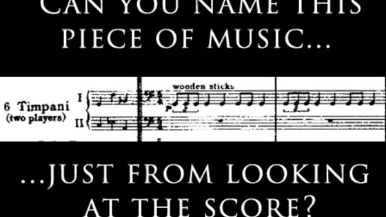 Can you identify the classical masterpiece just from looking at the music? Put your knowledge to the test