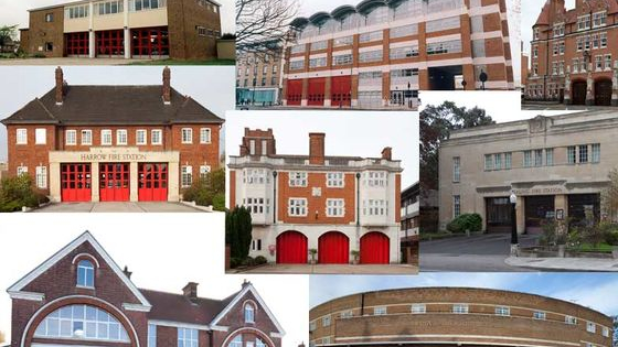 The London Fire Brigade has been building fire stations for the past 150 years  - Can you tell when these were built?