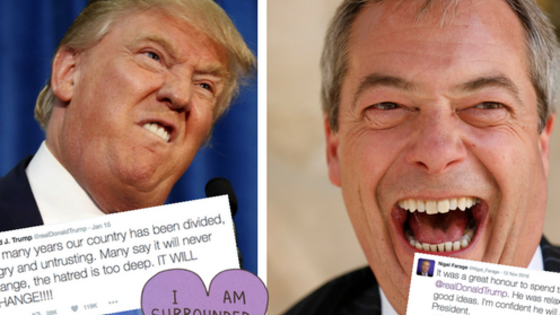 When it feels like the sky is falling it can be really hard to find a funny side, especially when ejits like Nigel Farage and Donald Trump just keep TALKING. And they really shouldn't. Like, at all.
