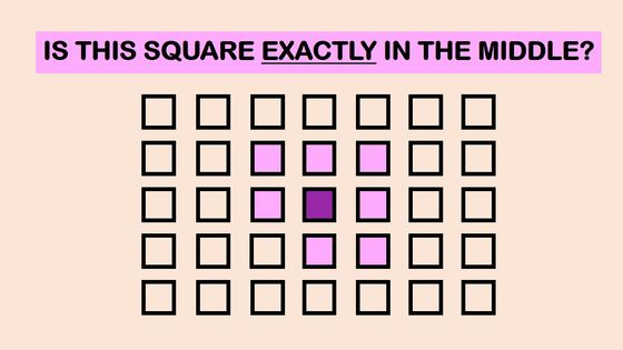 Are you part of the 3% with super vision? Look at the squares and pick the one in the middle.