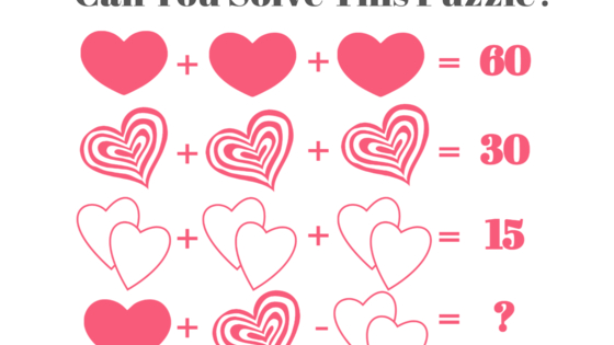 Much like love itself, this visual math challenge has a way of befuddling and bewildering even the sharpest of minds. Test yourself here!