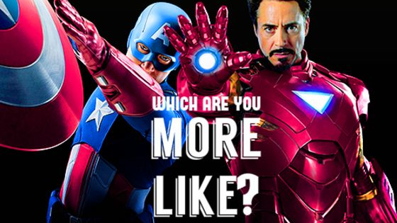 Is your brain more RDJ's eccentric Iron Man, or everyone's favorite patriot Captain America?