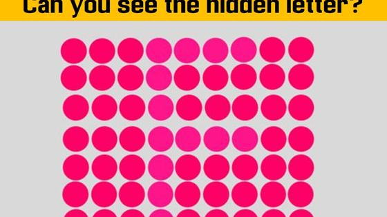 Can you spot the hidden letters in this tricky eye test?
