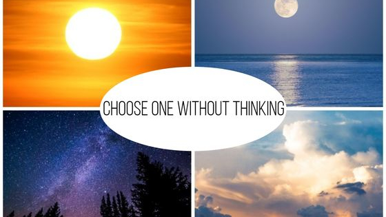 Choose words and images without thinking, and find your deepest power here!