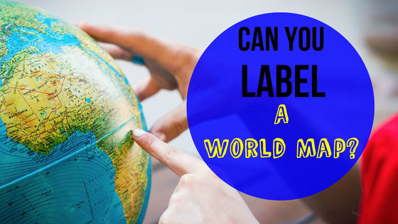 Come test your geography skills and see if you can truly label a world map!