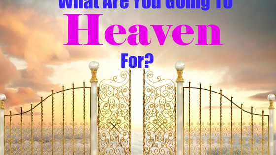What will you do in your life to send you to the pearly gates?