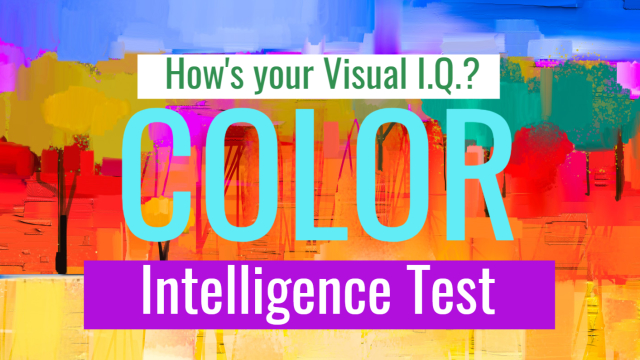How's your color perception? It's no secret that all of us see colors differently. This test, however, is structured to test your intelligence potential based on your ability to identify shadings and visual distinctions in color, not necessarily the specific color itself. Ready?