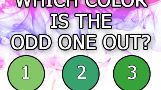 One color is more green, one more yellow, one lighter. But which is the odd one out?