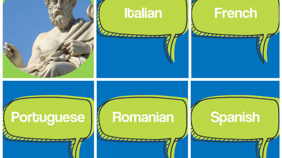 The five major Romance languages, French, Spanish, Portuguese, Italian, and Romanian, all stem from Latin but look and sound quite different in many ways! Can you tell which is which?