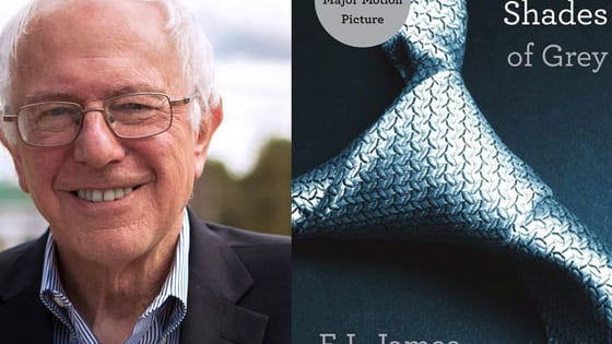 Do the following passages come from Bernie Sanders 1972 short story 'Man-and Woman' or from E.L. James' erotic novel 'Fifty Shades of Grey'?